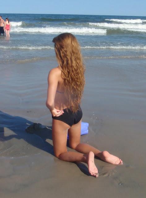 long wavy beach hair