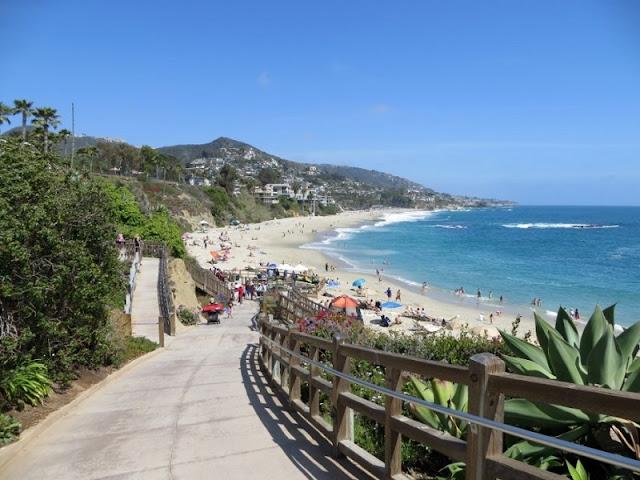 Ir com criança nas praias de Laguna Beach