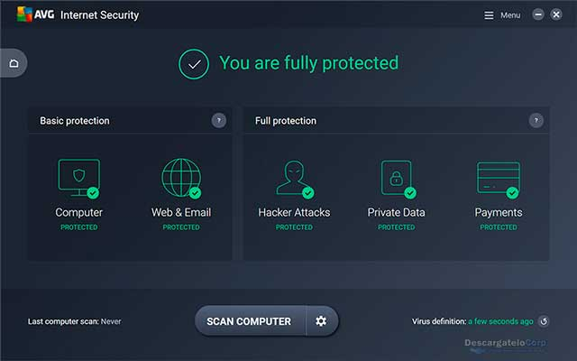 AVG Internet Security 2017 Proteja su PC y todos sus dispositivos personales