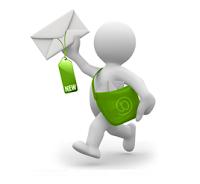 Cartero entregando un correo