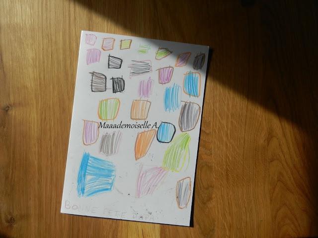 || Nos cadeaux pour la fête des pères ; carte (ultra) colorée