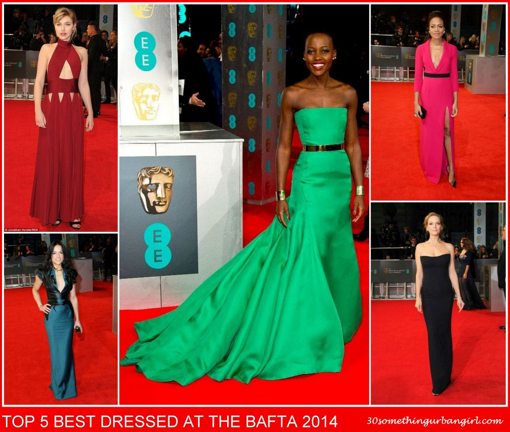 top 5 best dressed at the BAFTA 2014
