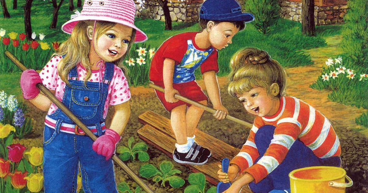 Труд взрослых в огороде картинки популярного
