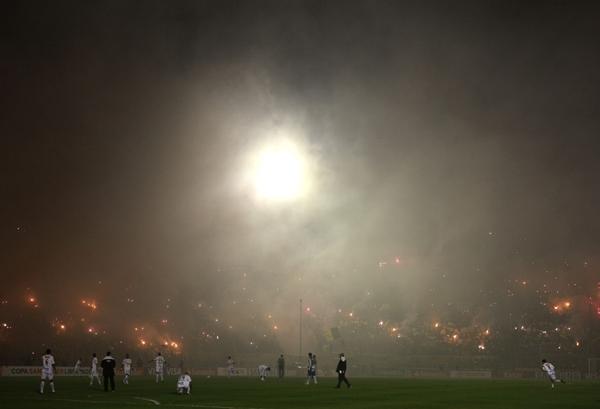 Jogo Santos X Peñarol, final da Libertadores em Montevidéu