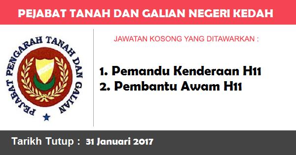 Jawatan Kosong di Pejabat Tanah dan Galian Negeri Kedah