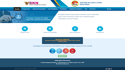 petunjuk pendaftaran seleksi cpns nasional 2019/2020
