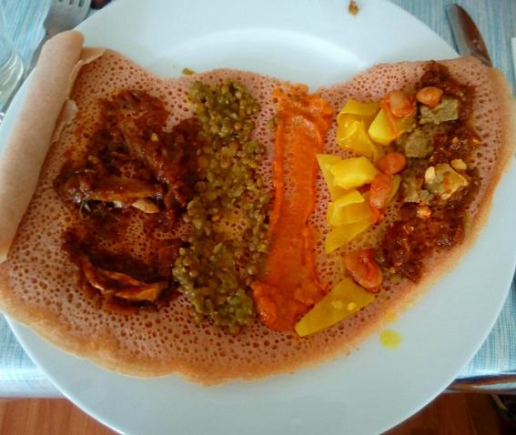 Gibe African Restaurant, Dandenong, injera