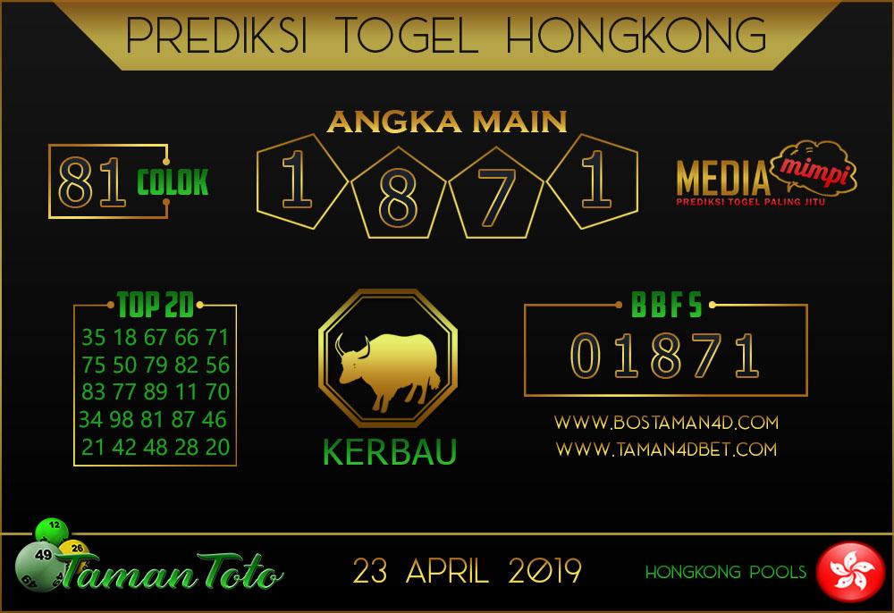 Prediksi Togel HONGKONG TAMAN TOTO 23 APRIL 2019