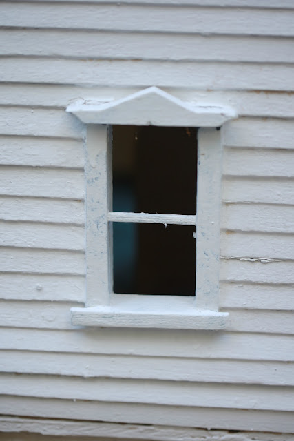 vintage dollhouse window