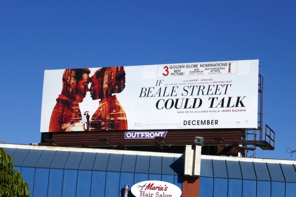 If Beale Street Could Talk 3 Golden Globe billboard