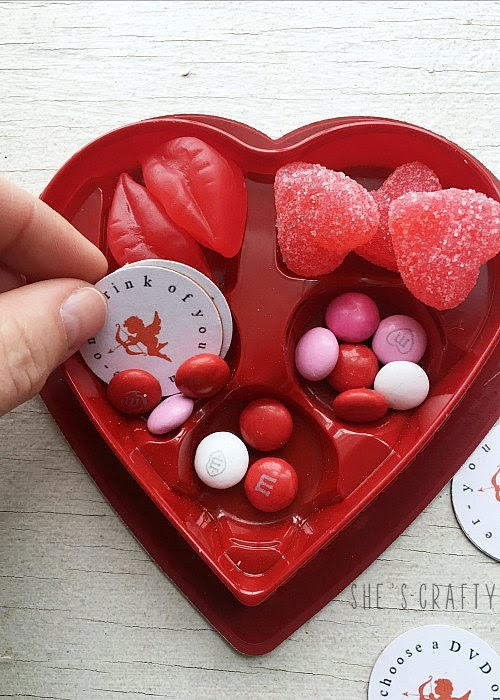 Instructions for how to makeover a Valentine Chocolate Box with Free Cupid Coupons
