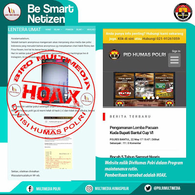 Hoax Situs Polri Telah Dibobol Anonymous