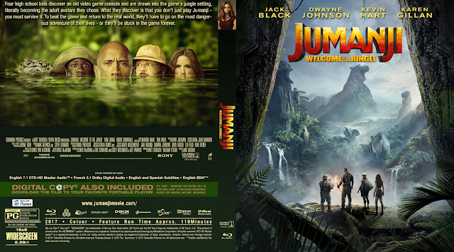 Jumanji Welcome To The Jungle Bluray Cover