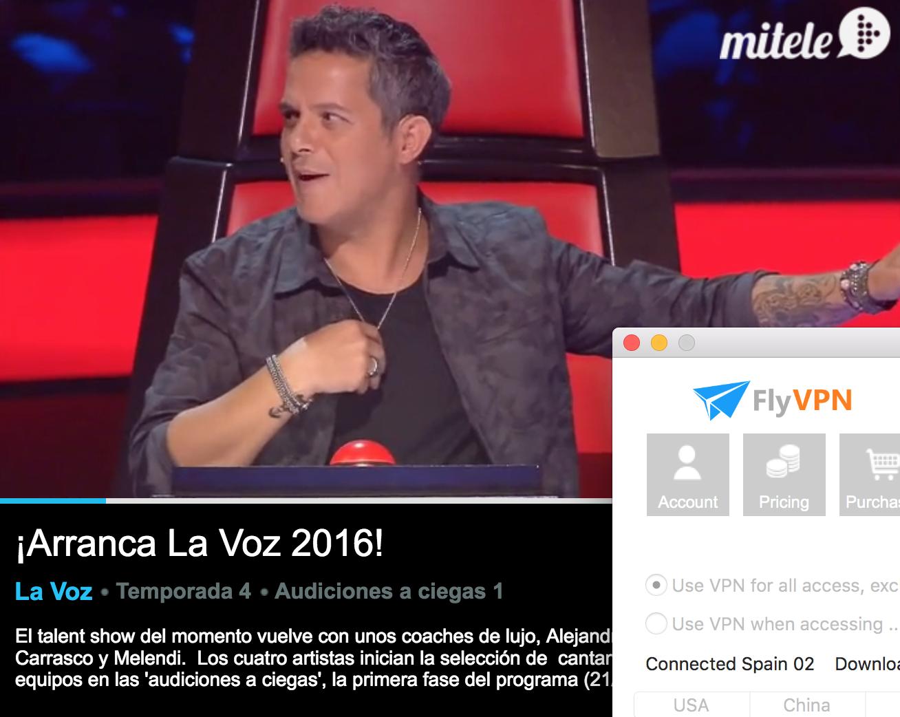 Todo sobre el mundo de los juegos online c mo ver la voz for Ver mitele fuera de espana