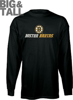 Boston Bruins Big and Tall Long Sleeve Shirt
