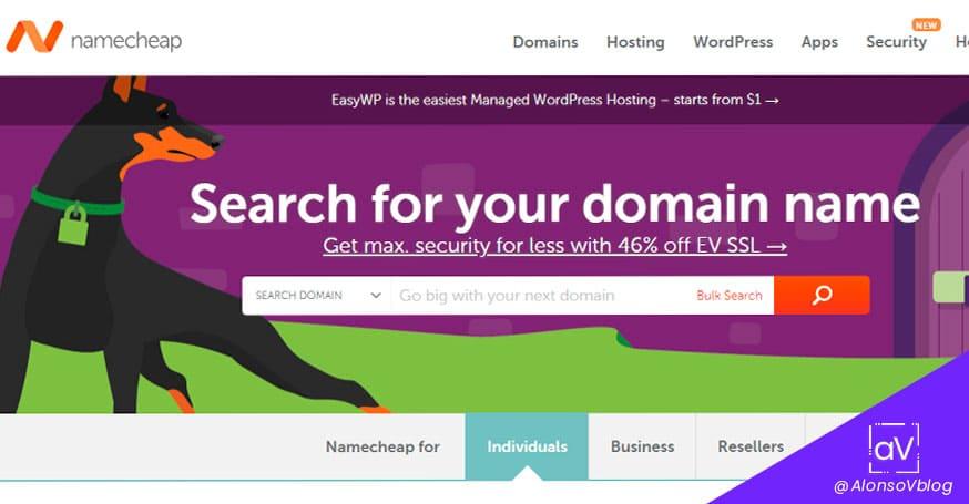 comprar dominios baratos y gratis en namecheap