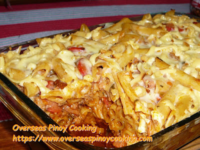 Pinoy Baked Penne Pasta Dish