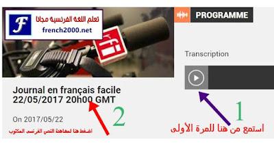أكثر من 1000 نشرة أخبار فرنسية مكتوبة وبالصوت لتعلم الفرنسية