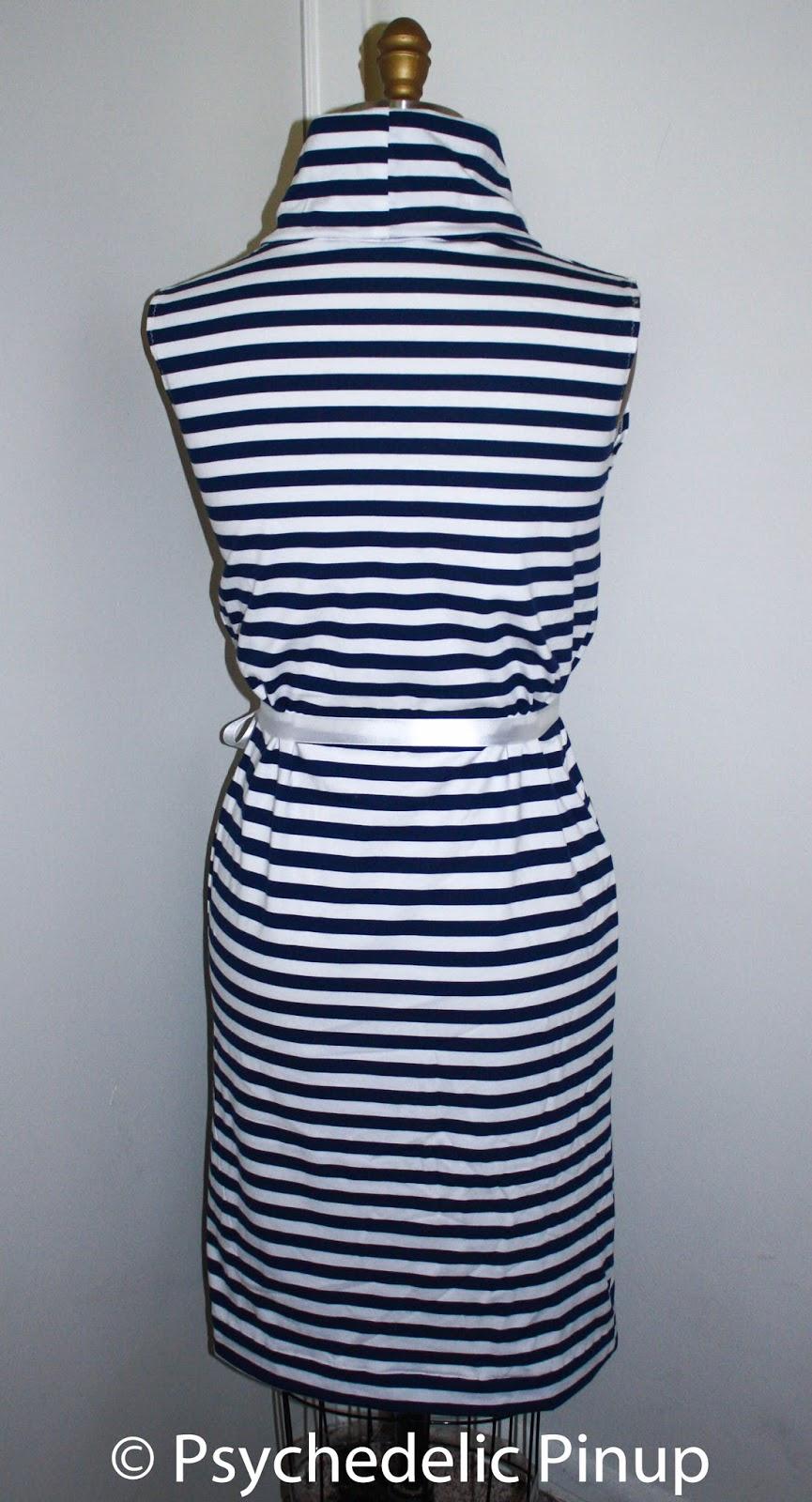 b3cce00a4e Morningstar Pinup  Marilyn Monroe Casual Knit Wear- Stripe Dress ...