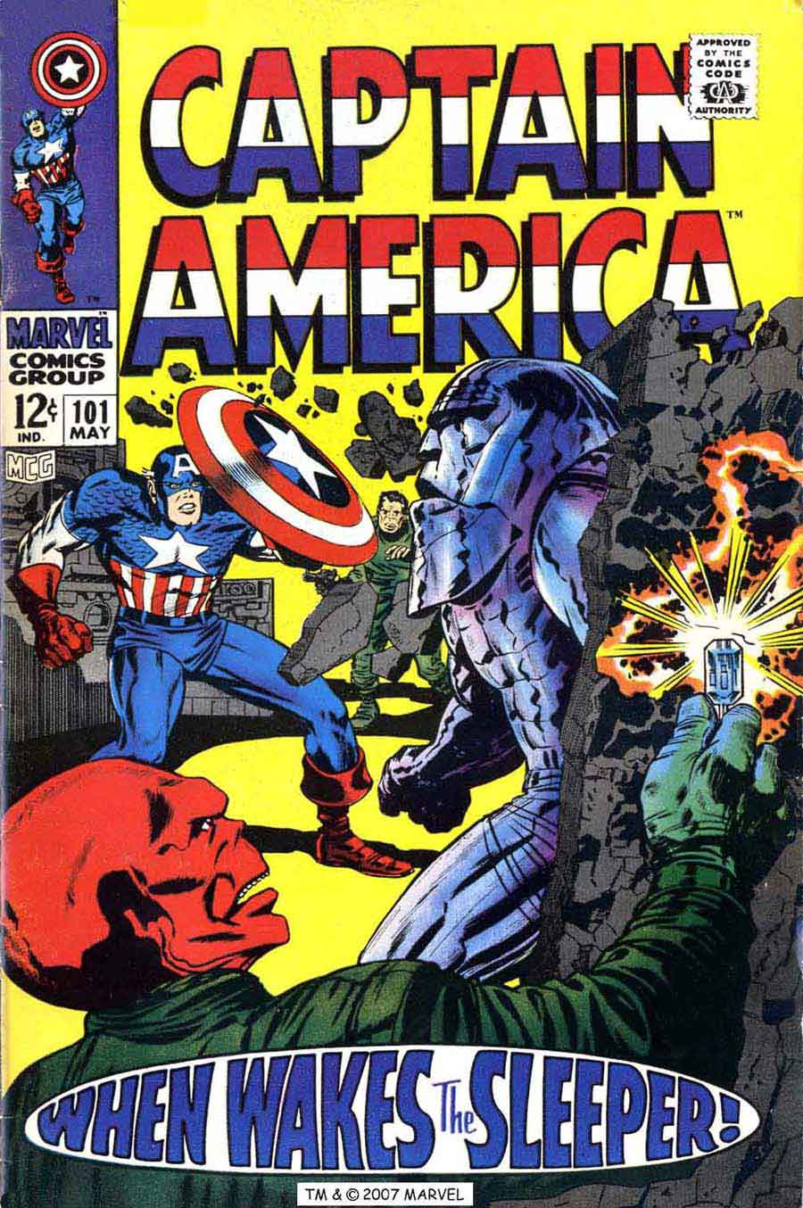 Captain America v1 #101 marvel comic book cover art by Jack Kirby