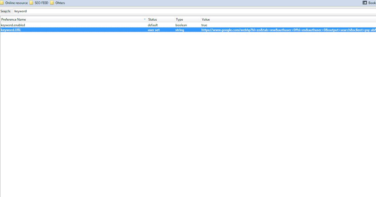 Setting Firefox Address Bar Google Search