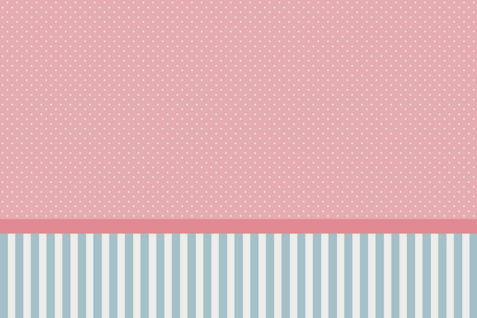 Pink, White and Light Blue Free Printable Invitations, Labels or Cards.