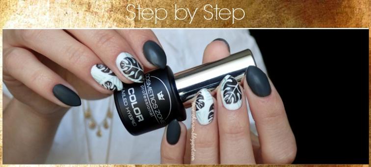 | Cosmetics Zone  | 003 Intense White | step by step | manicure krok po kroku | monstera | wakacyjne paznokcie | zdobienie krok po kroku | step by step nails | stamping nails | monstera nails | tropical nails | nature nails | monstera nails step by step | hybrid nails |