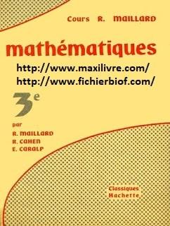 Mathématiques, Classe de Troisième collège et lycée