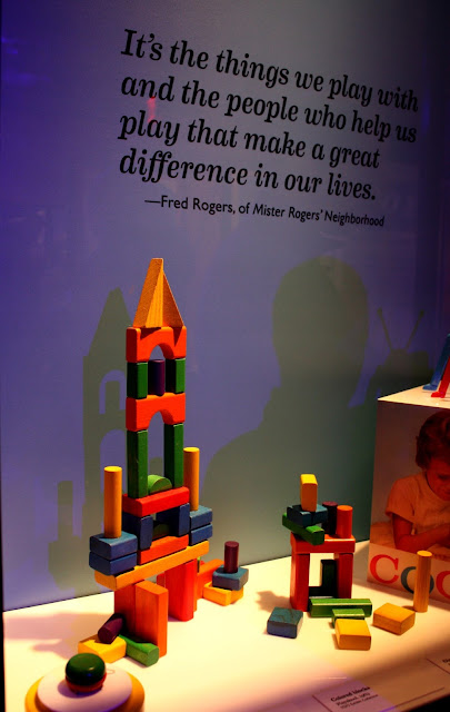 Building blocks in the Toy Exhibit at the Heinz History Center in Pittsburgh