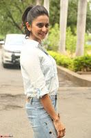 Rakul Preet Singh in Jeans and White Shirt At Jaya Janaki Nayaka le Logo Launch ~  Exclusive 017.JPG