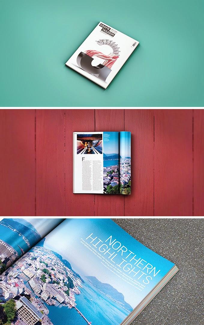 3 Magazine Mockups PSD