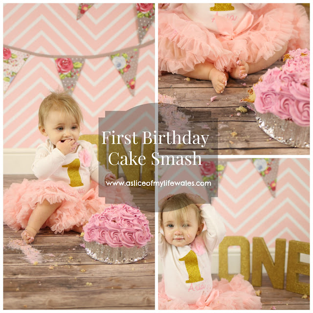 pinterest pretty pink chevron and gold cake smash bunting