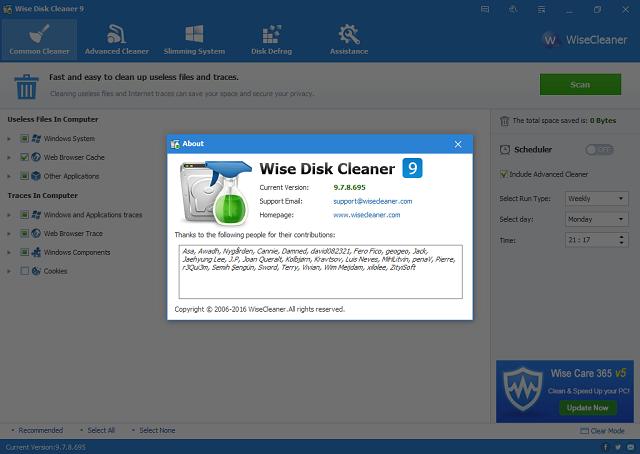 تحميل برنامج تنظيف وتحسين النظام Wise Disk Cleaner 978695