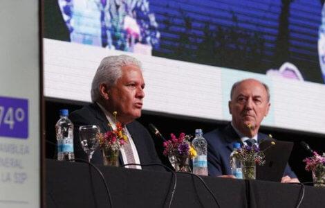 Gustavo Mohme, presidente de la SIP y Ricardo trotti, director ejecutivo / EL TRIBUNO