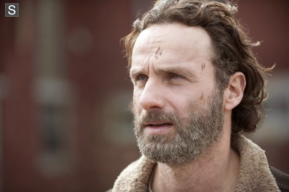 "Rick en el  final de la cuarta temporada de ""The Walking Dead"""