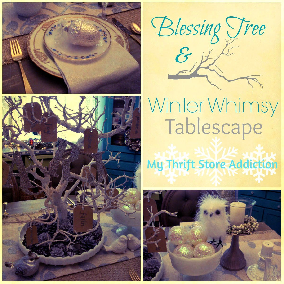 Winter Whimsy tablescape