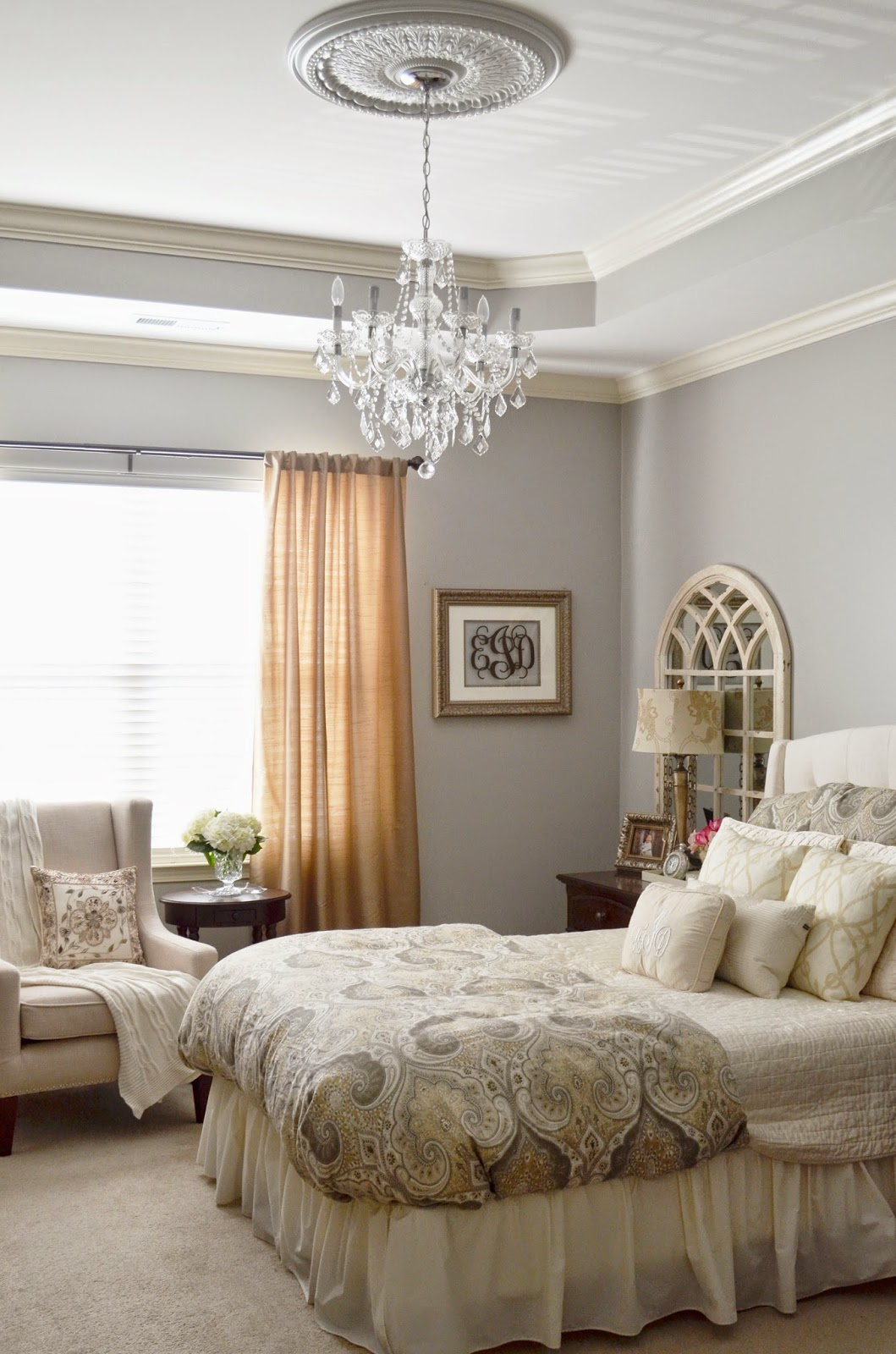 The Cheerful Home: Our Master Bedroom