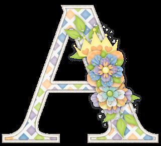 Alfabeto con Diferentes Texturas y Flores.