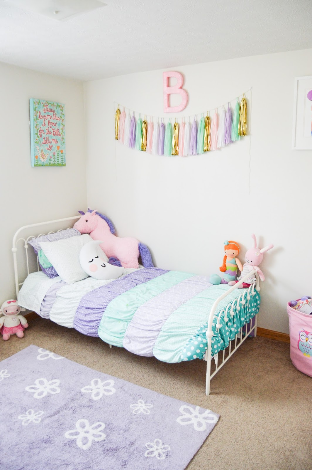 The Joyful Tribe Bella 39 S Room Reveal A Bright Pastel Little Girl 39 S Room