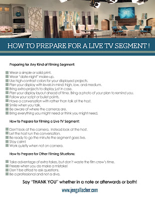 How to Prepare for a Live TV Segment Checklist from www.jengallacher.com.
