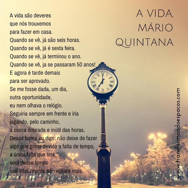 Reflexões |  Vida, de Mário Quintana