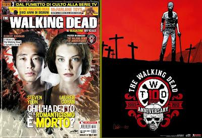 The Walking Dead Magazine: la cover dell'edizione da edicola ed il poster allegato per il decimo anniversario