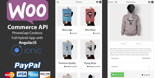 Free Download Ionic WooCommerce API v1.5.0 - PhoneGap