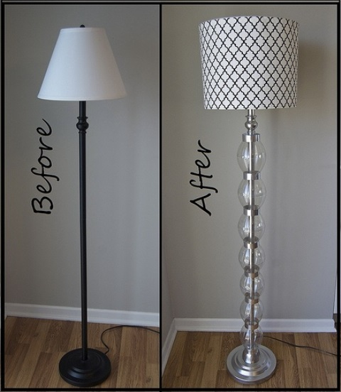 Soda bottle lamp makeover