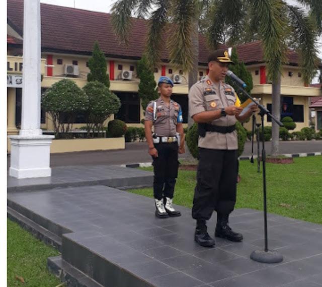 Operasi Keselamatan Musi 2019, Polres OI Gelar Pasukan