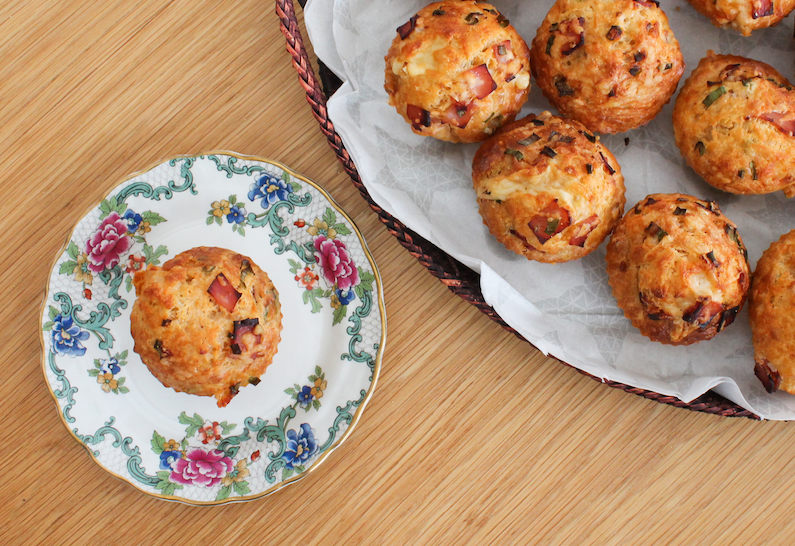 Food Lust People Love Cheddar Ham Chive Muffins Muffinmonday-3064