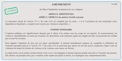 #stopVEO VEO éducation fessée violence enfants parents amendement