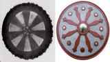 Imagens fornecidas por Marc Dantonio de um par de escudos da antiguidade, cujos desenhos parecem semelhantes aos da técnica de