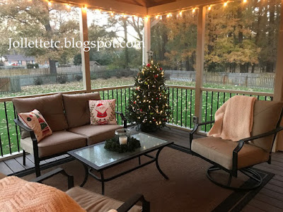 Our porch Christmas https://jollettetc.blogspot.com