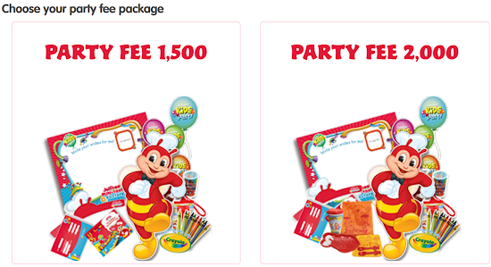 Jollibee Party Fee